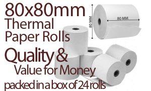 80x80 Thermal Paper - x24 Rolls