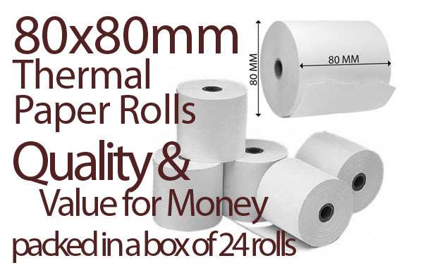 Thermal Paper Rolls Thermal Receipt Paper 24 Rolls