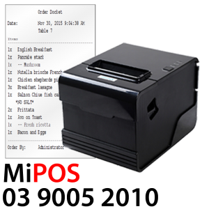MiPOS Kitchen Order Dicket Printer