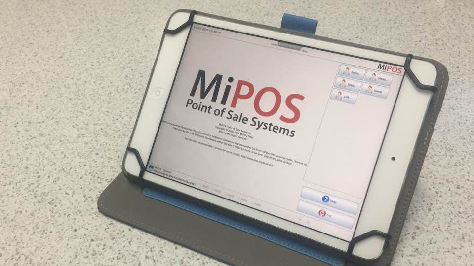 iPad POS System - Login Screen