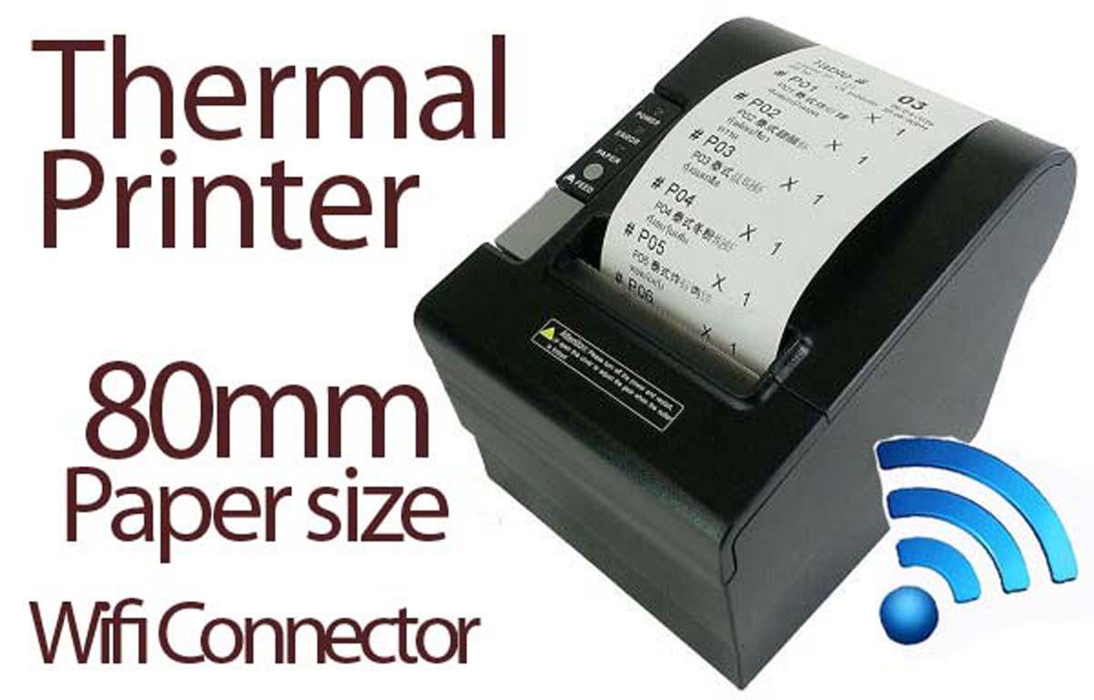 80mm Thermal Receipt Printer - Wireless/Wifi